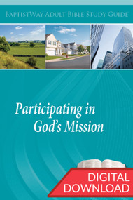Digital Bible study on how one and one's church can Participate in God's Mission. 13 lessons; PDF; 149 pages.