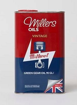 Millers Oils VINTAGE GREEN GEAR OIL 90 GL1