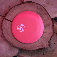 Innova Star pink Destroyer with a white Huk Lab mini TriFly stamp