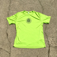 Lime tee with gray  Huk Lab Chain Ray front graphic
