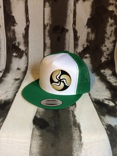 Green/ white crown/ green mesh