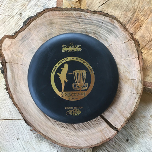 Discraft Elite X Soft Challenger black with a gold 2004 Worlds stamp