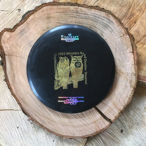Discraft Elite ESP Wasp black with a gold 2003 Whistler's Bend double stamp
