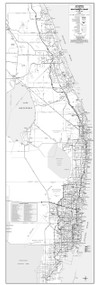 6 County Southeast Coast General Highway B&W With Zip Codes