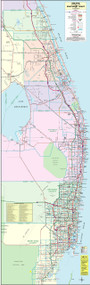 6 County Southeast Coast General Highway Color With Zip Codes