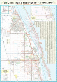 "Indian River County, FL 42"" Wall Map Paper Only"