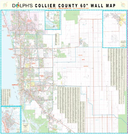 Collier County Fl 60 Quot Wall Map Paper Only Dolph Map Llc