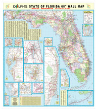 "Florida State 60"" Wall Map Paper Only"