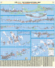 "Monroe County, FL (Florida Keys) 60"" Wall Map"