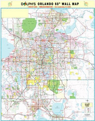 Orlando Florida Map.Orlando Fl 60 Wall Map Rail Mounted Dolph Map Llc