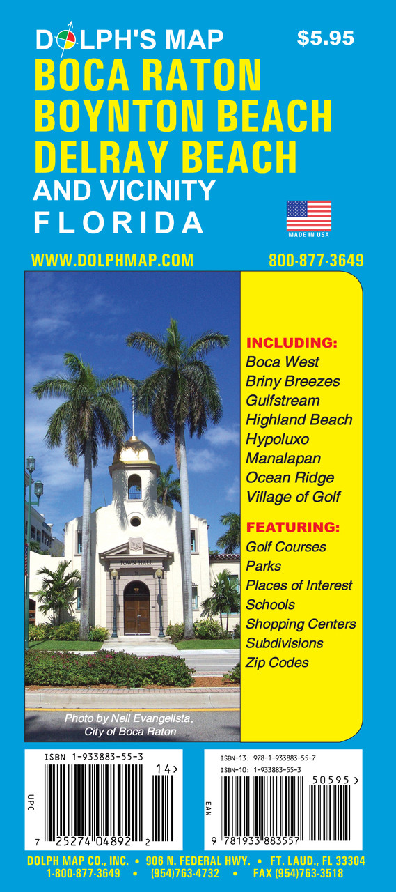 Boca Raton Florida Zip Code Map.Boca Raton Fl Dolph Map Llc