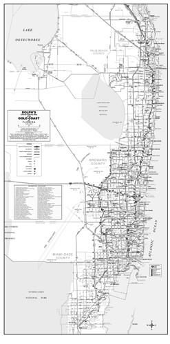 3 County Gold Coast General Highway B&W Without Zip Codes - Dolph ...