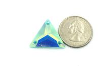 20 Pieces - 22 mm Acrylic Triangle Stone - Mint AB
