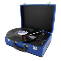 Portable suitcase turntable - Blue