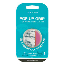 buddee Pop Up Grip - Pink Marble