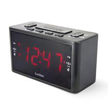 "Dual Alarm Digital Clock Radio with 1.2"" LED display"