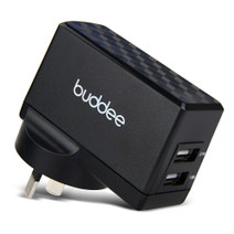 Dual USB Wall Charger 2.1A + 1A - Black