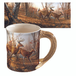 Wild Wings Sculpted Mug Running Deer