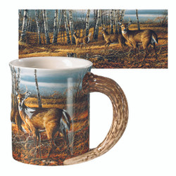 Wild Wings Sculpted Mug Birch Line Deer
