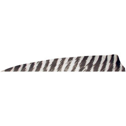 Gateway Shield Cut Feathers Barred White 4 in. RW 100 Pk.