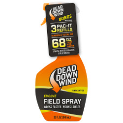 Dead Down Wind Field Spray Combo 68 oz. (32 oz. plus 3 Pac-Its)
