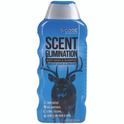 Code Blue D-Code Odor Eliminator Body Wash & Shampoo 12 oz.