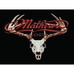 DWD Mathews Decal Skull Red 10x8 in.