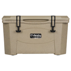 Grizzly RotoMolded Cooler Sandstone 40 qt.