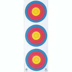 Maple Leaf NAA Vertical Target 3-Spot 25 pk.