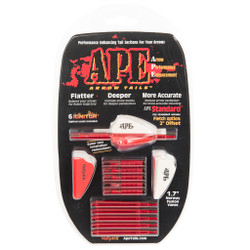 APE Std Offset Red 6pk w/ Red 6pk. Lighted Nocks Included