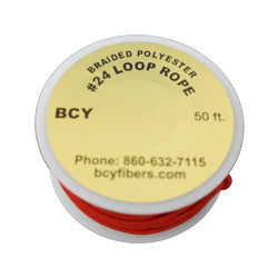 BCY Size 24 D Loop Rope Red 50 ft
