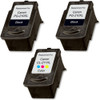 3 Pack - Remanufactured replacement for Canon PG-210XL and CL-211XL series ink cartridges