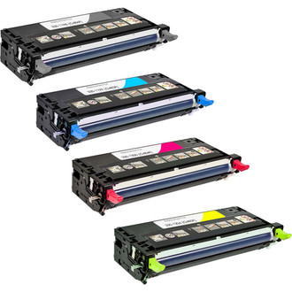 4 Pack - Remanufactured replacement for Dell 330-1198 series laser toner cartridges