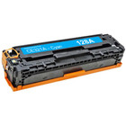 Remanufactured replacement for HP 128A (CE321A) cyan laser toner cartridge