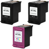 3 Pack - Remanufactured replacement for HP 61XL series ink cartridges