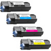 4 Pack - Remanufactured replacement for Dell 331-0716 series laser toner cartridges