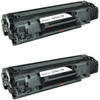 Twin Pack - Remanufactured replacement for Canon 128 (3500B001AA) black laser toner cartridge