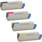 4 Pack - Compatible replacement for Okidata 43865720 series laser toner cartridges
