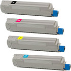 4 Pack - Compatible replacement for Okidata 43487736 series laser toner cartridges