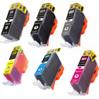 6 Pack - Compatible replacement for Canon PGi-220 and Cli-221 series ink cartridges