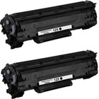 Twin Pack - Remanufactured replacement for Canon 125 (3484B001AA) black laser toner cartridge