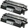 Twin Pack - High yield remanufactured replacement for HP 80X (CF280X) black laser toner cartridge