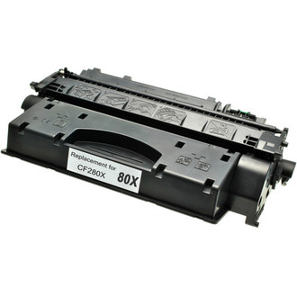 High yield remanufactured replacement for HP 80X (CF280X) black laser toner cartridge