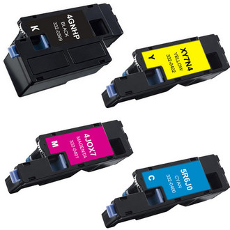 4 Pack - Remanufactured replacement for Dell 332-0399, 332-0400, 332-0401, 332-0402 series laser toner cartridges