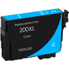 Remanufactured replacement for Epson T200XL220 cyan ink cartridge