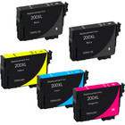5 Pack - Remanufactured replacement for Epson T200XL series ink cartridges