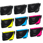 9 Pack - Remanufactured replacement for Epson T200XL series ink cartridges