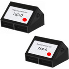 Pitney-Bowes 769-0 red ink cartridges - 2 Pack