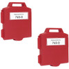 Pitney-Bowes 765-0 red ink cartridges twin pack