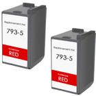 Pitney-Bowes 793-5 red ink cartridges - twin pack